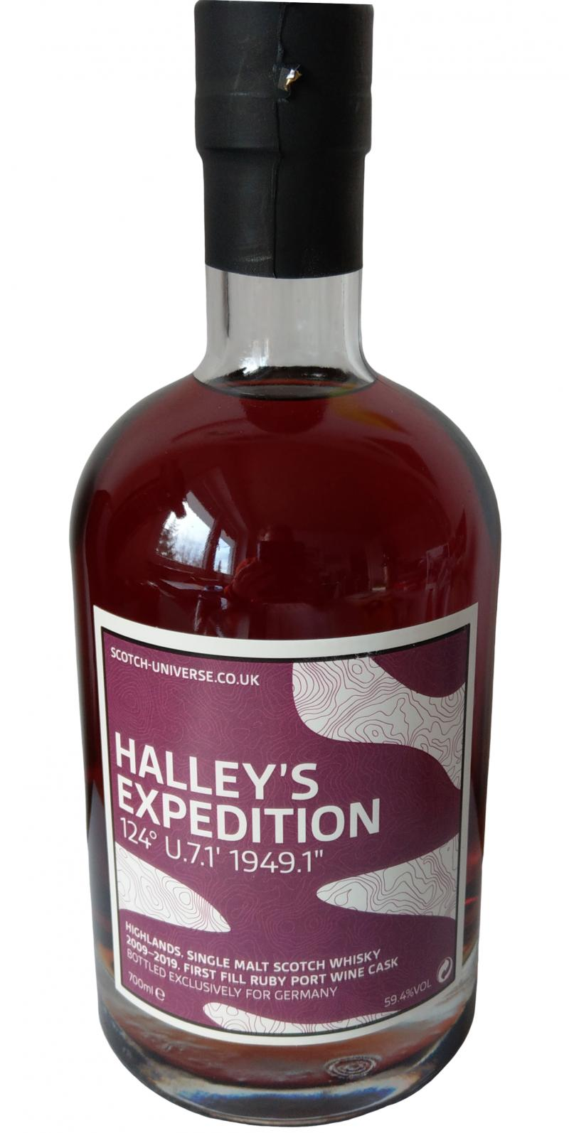 Scotch Universe Halley's Expedition 124° U.7.1' 1949.1""