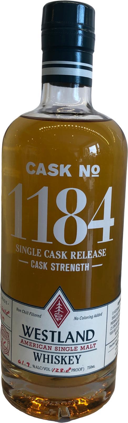 Westland Cask No. 1184