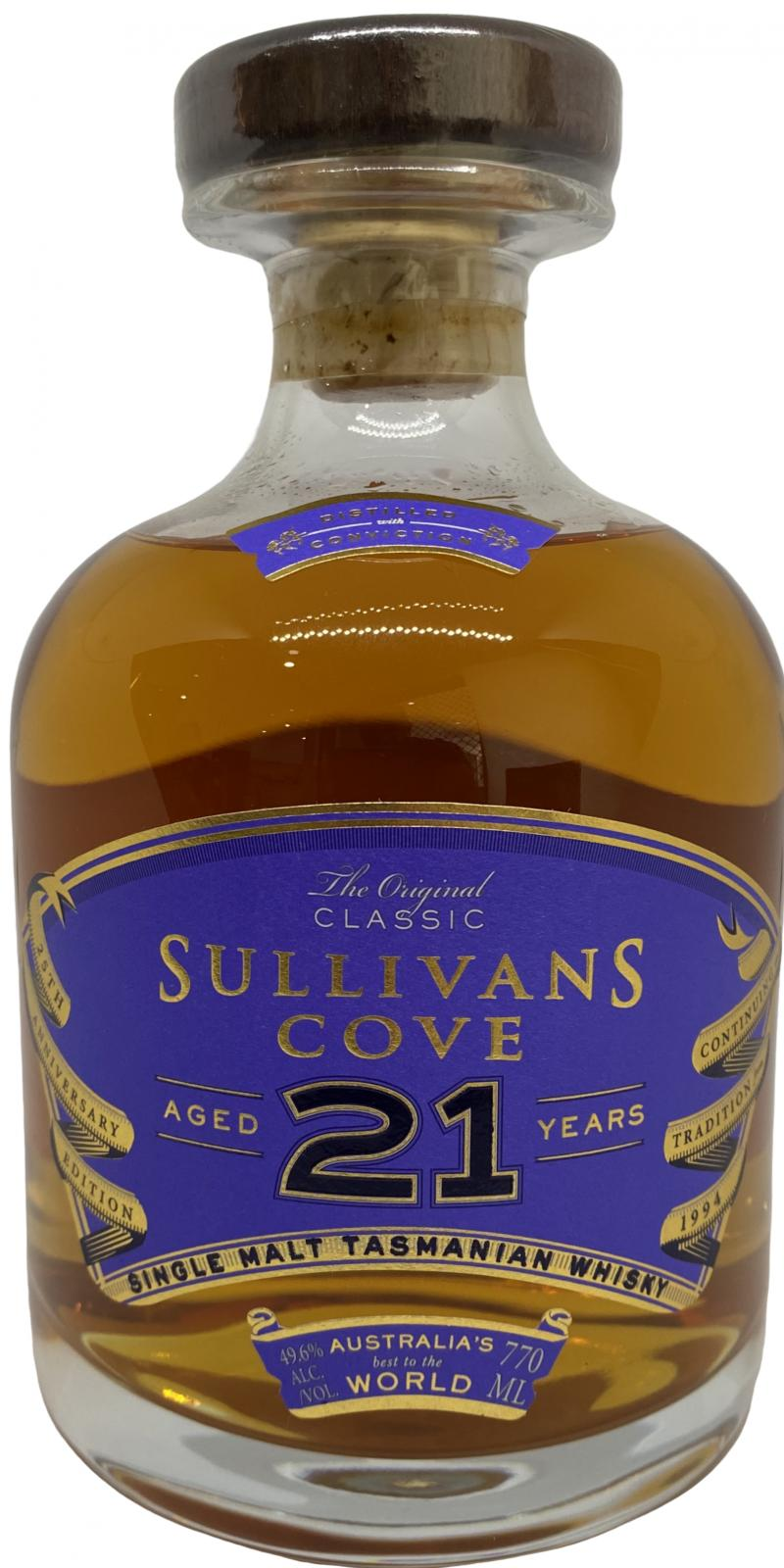 Sullivans Cove 21-year-old