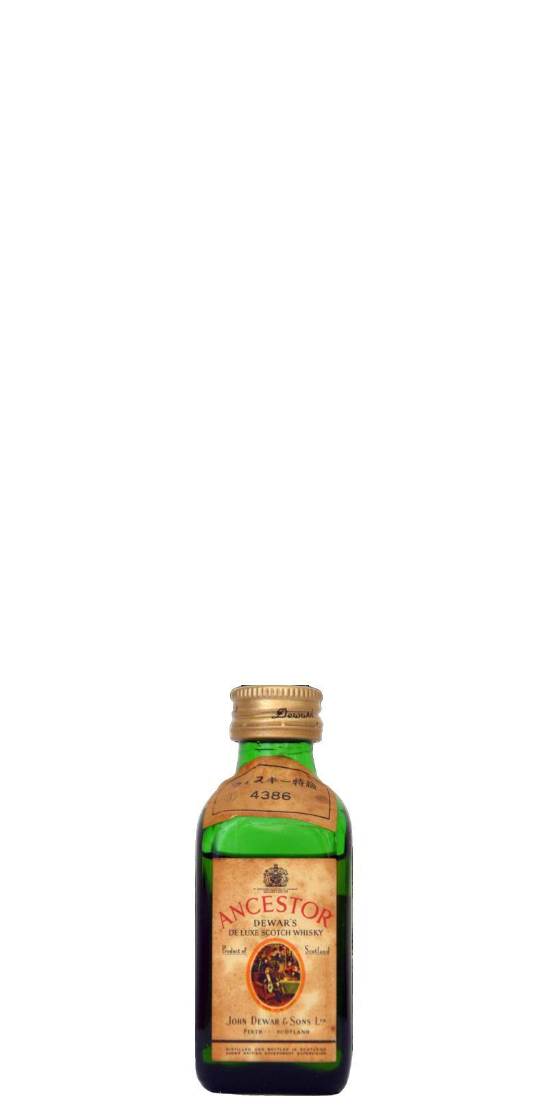 Ancestor Dewar's De Luxe Scotch Whisky