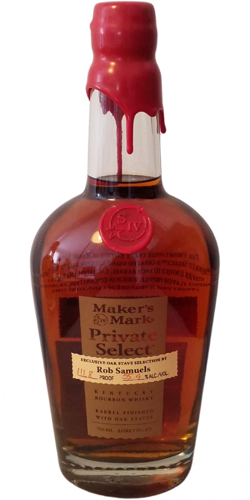 Maker's Mark Rob Samuels Private Select