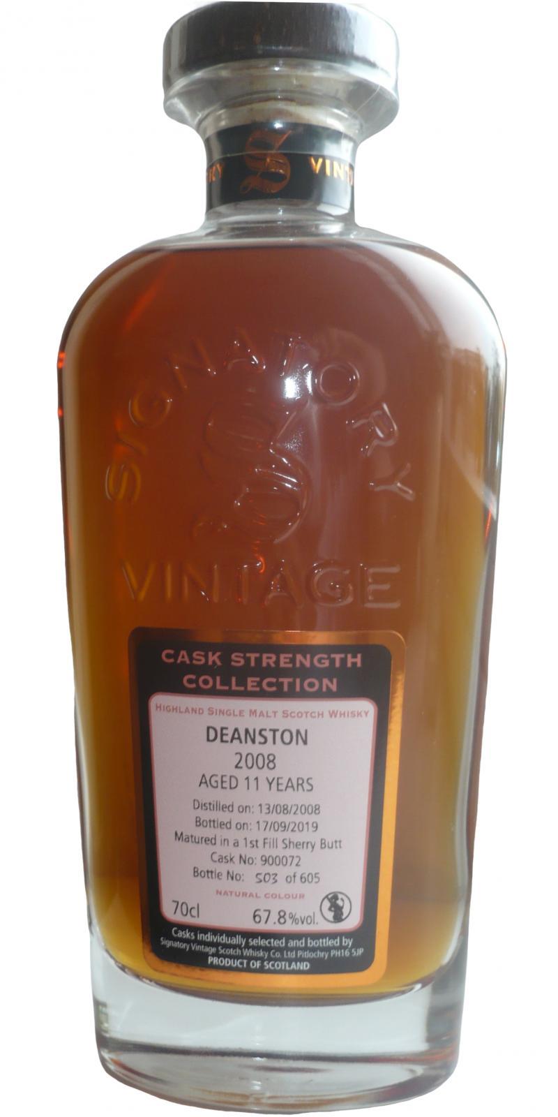Deanston 2008 SV