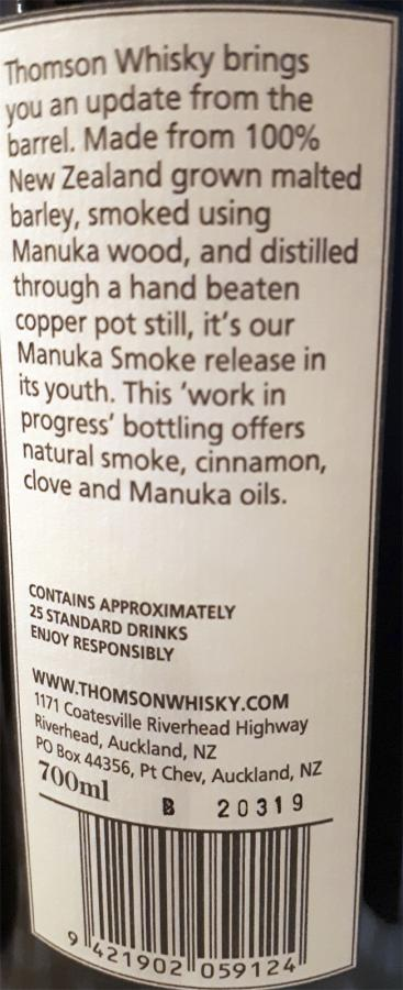 Thomson Manuka Wood Smoke