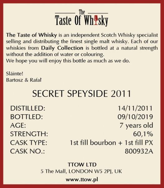 Secret Speyside 2011 TTOW