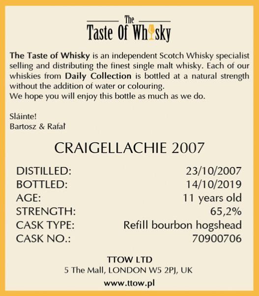 Craigellachie 2007 TTOW