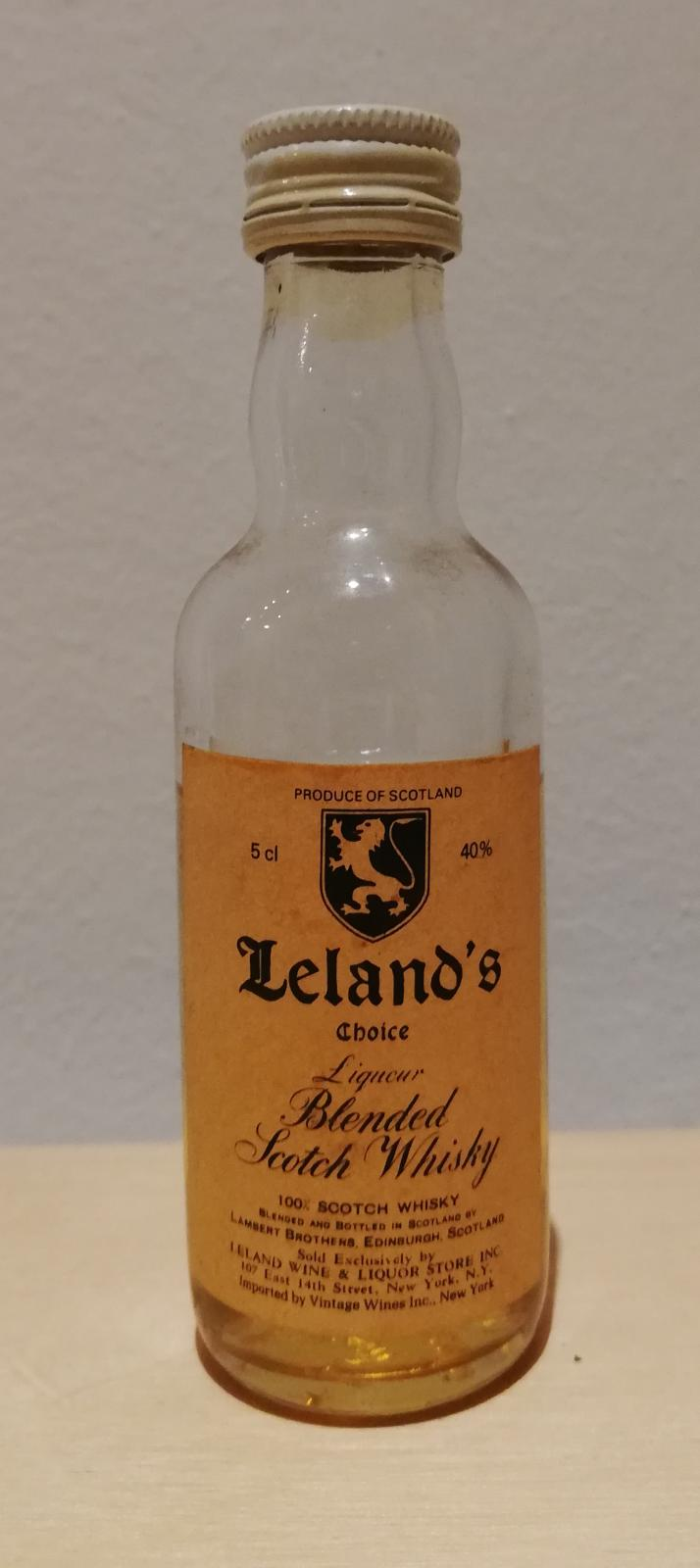 Blended Scotch Whisky Leland's Choice
