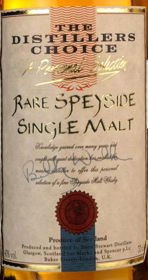 The Distillers Choice Rare Speyside Single Malt BSD