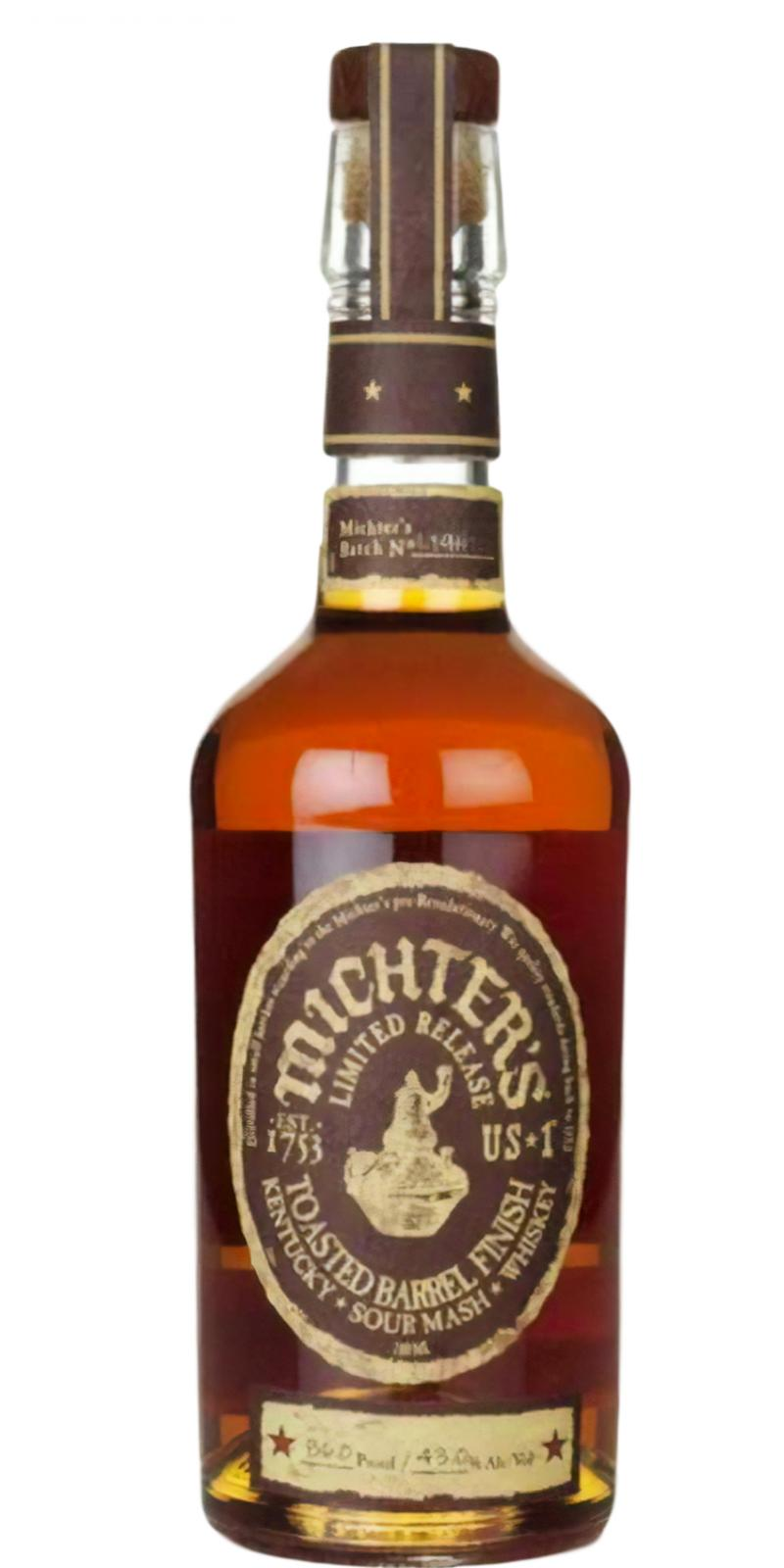 Michter's Toasted Barrel Finish Sour Mash Whiskey
