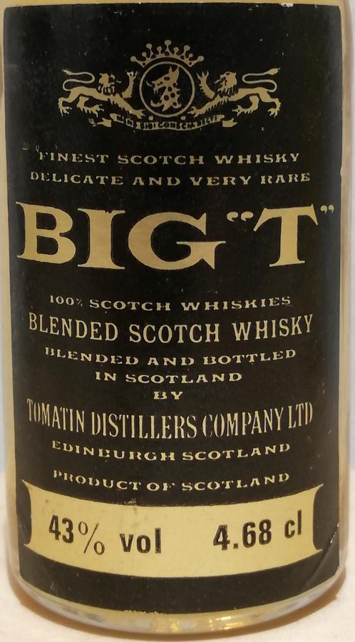 "Big ""T"" Blended Scotch Whisky"