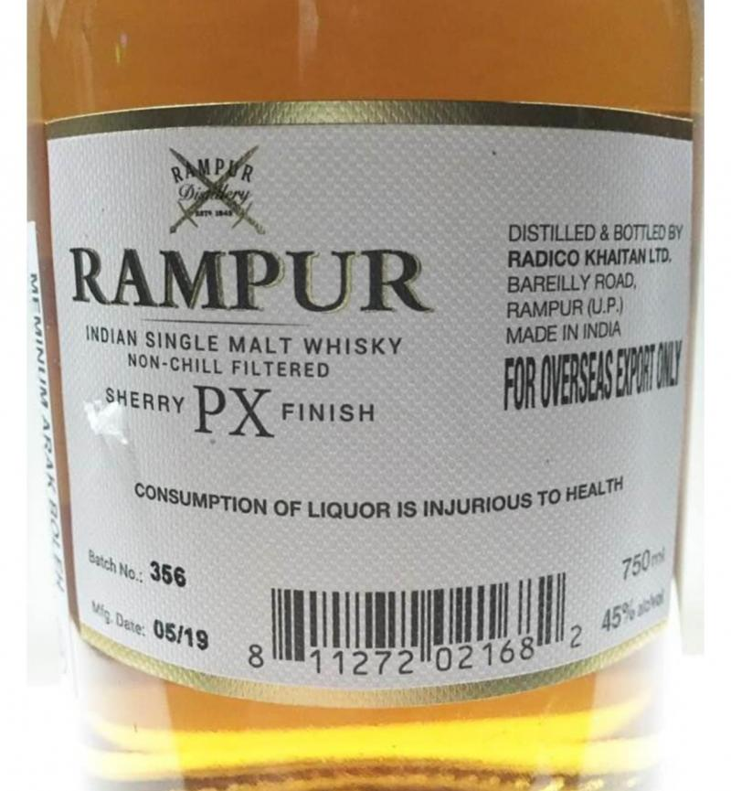 Rampur Sherry PX Finish