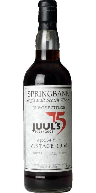 Springbank 1966 Private Bottling