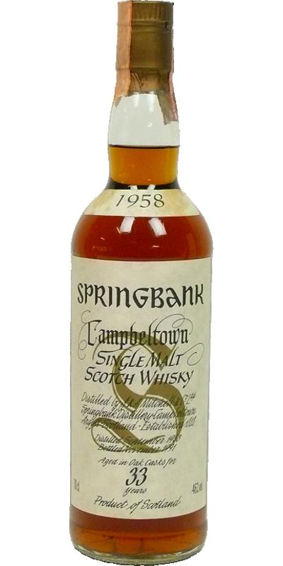 Springbank 1958