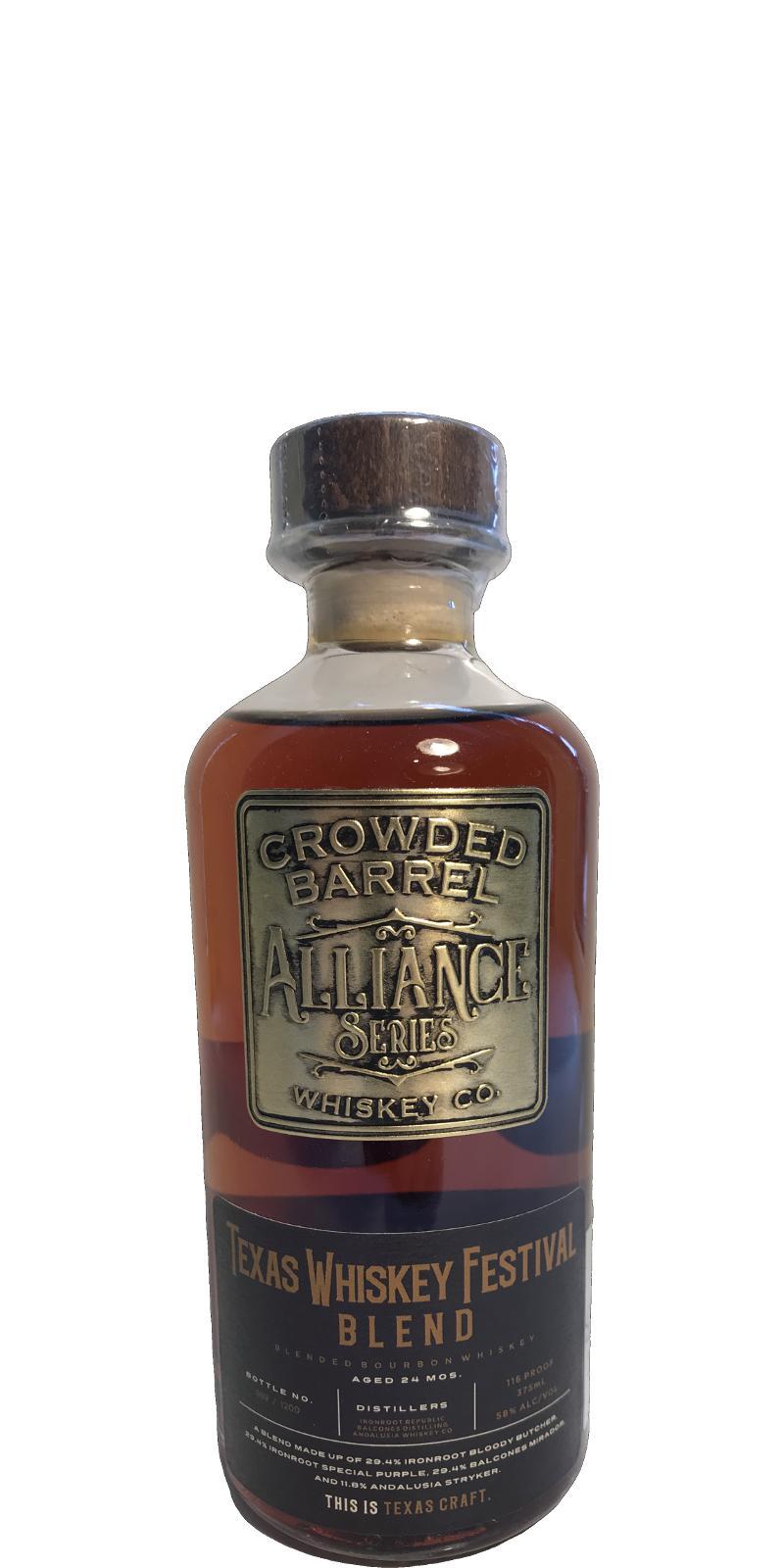 Alliance Series Texas Whiskey Festival Blend CBW