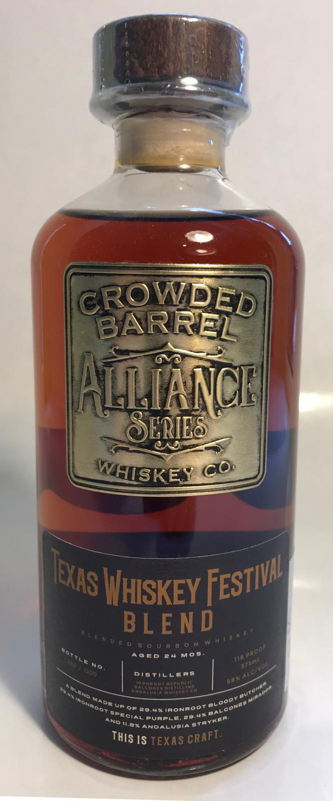 Alliance Series Texas Whiskey Festival Blend CBW
