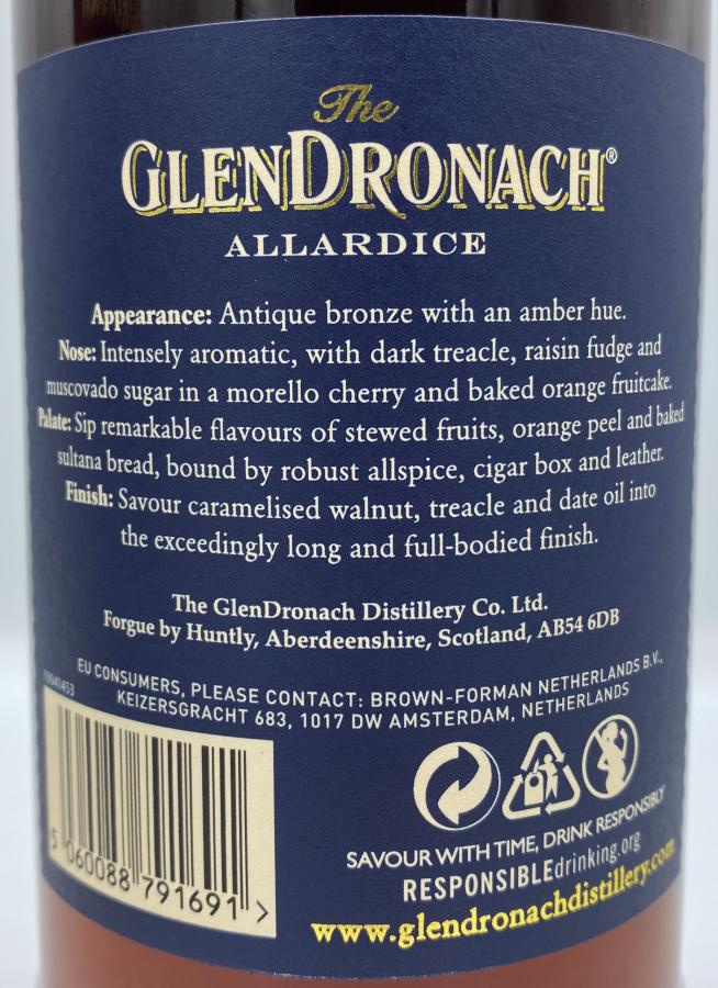 Glendronach 18-year-old Allardice