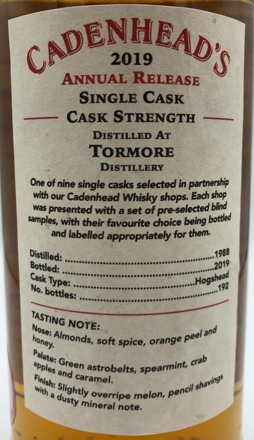 Tormore 1988 CA