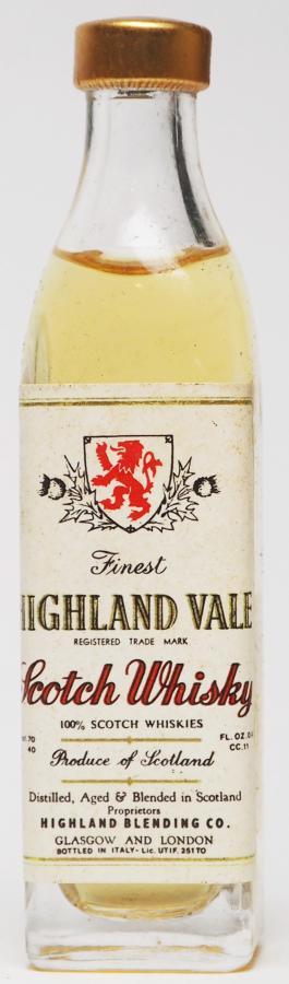 Highland Vale Scotch Whisky