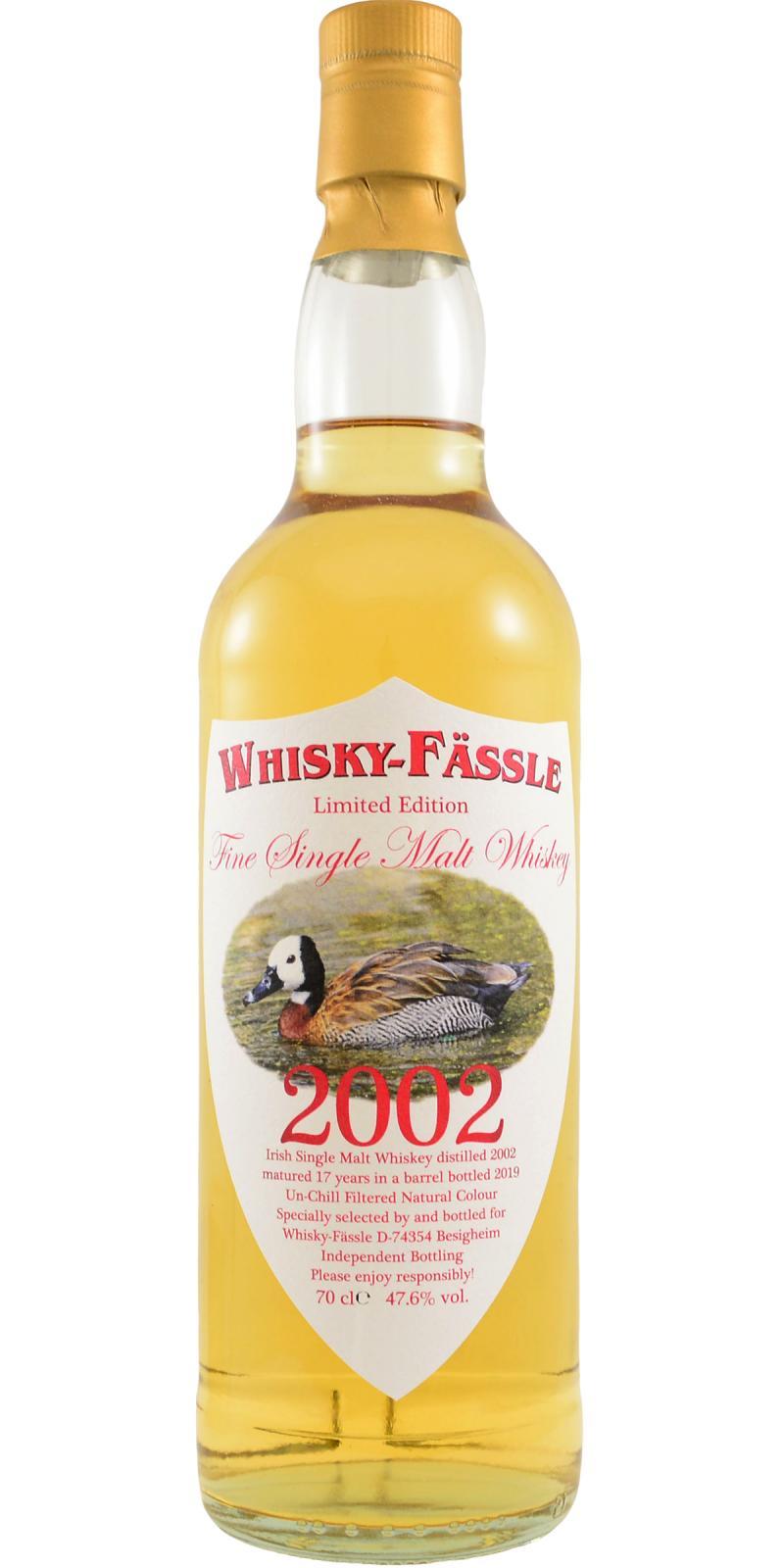 Irish Single Malt Whiskey 2002 W-F