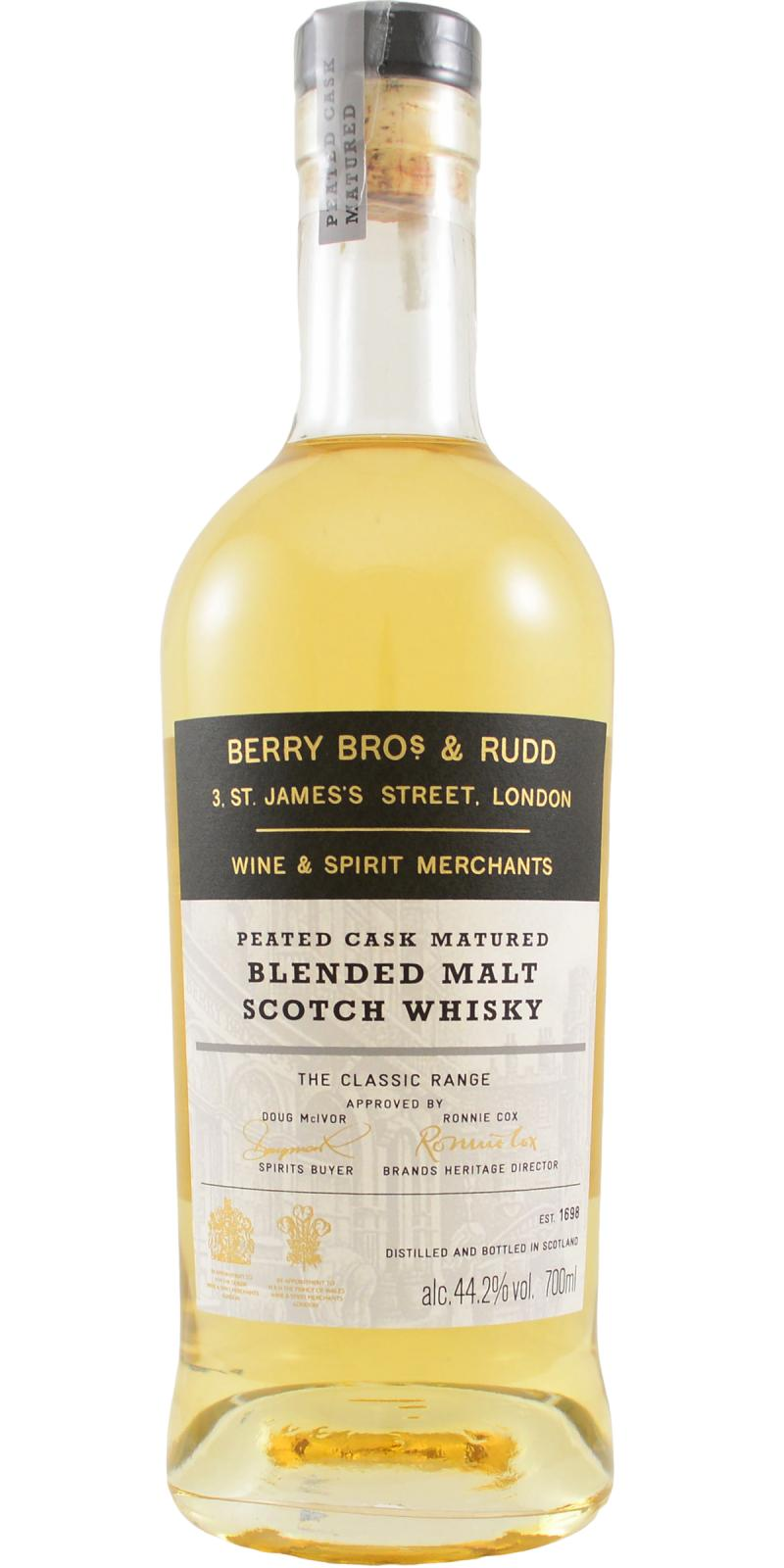 Blended Malt Scotch Whisky The Classic Range BR Peated Cask
