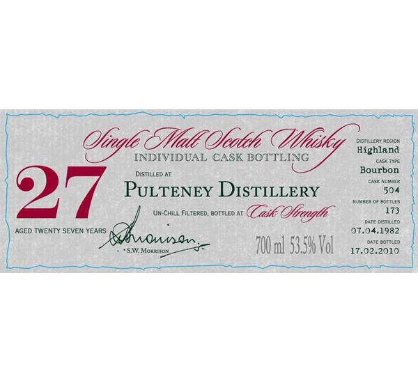 Old Pulteney 1982 DR
