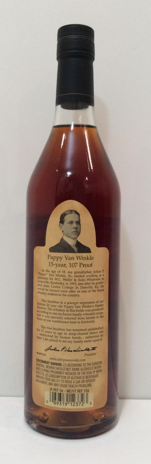 Pappy Van Winkle's 15-year-old