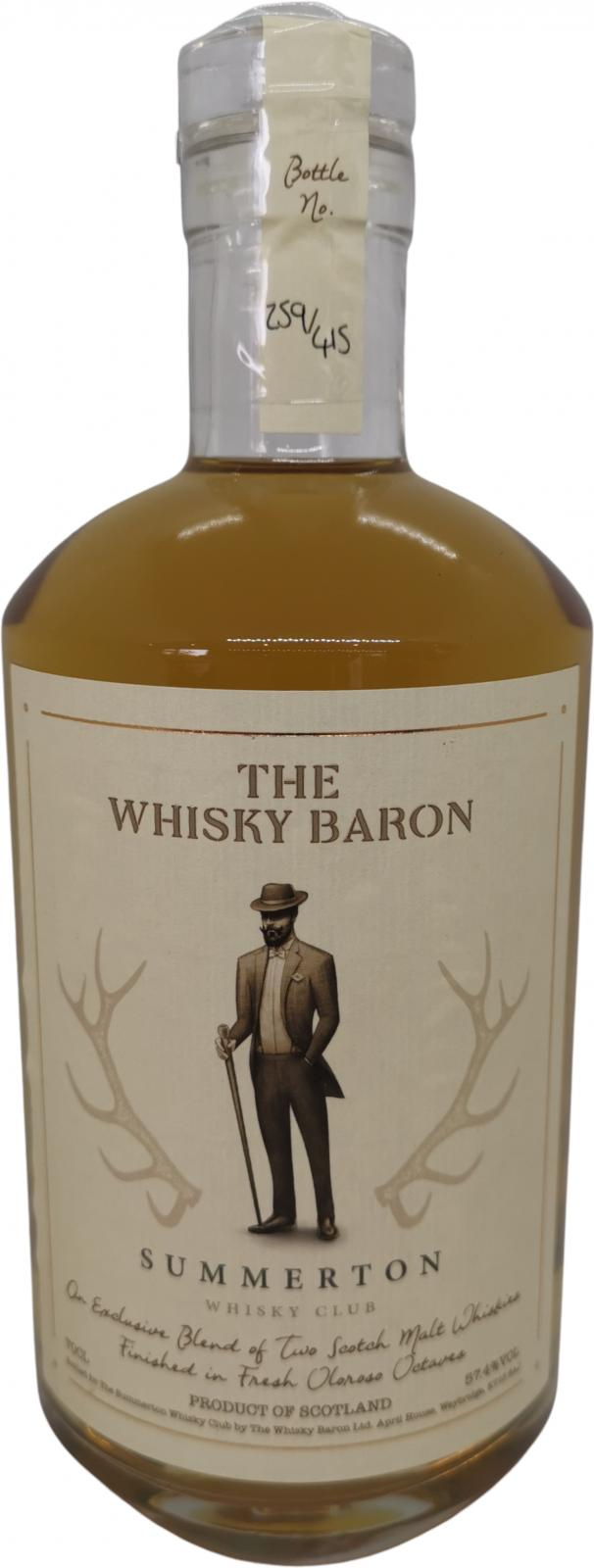 Blended Scotch Whisky Summerton Whisky Club TWBa