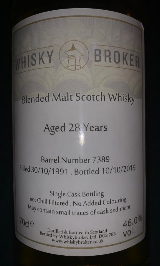 Blended Malt Scotch Whisky 28-year-old WhB