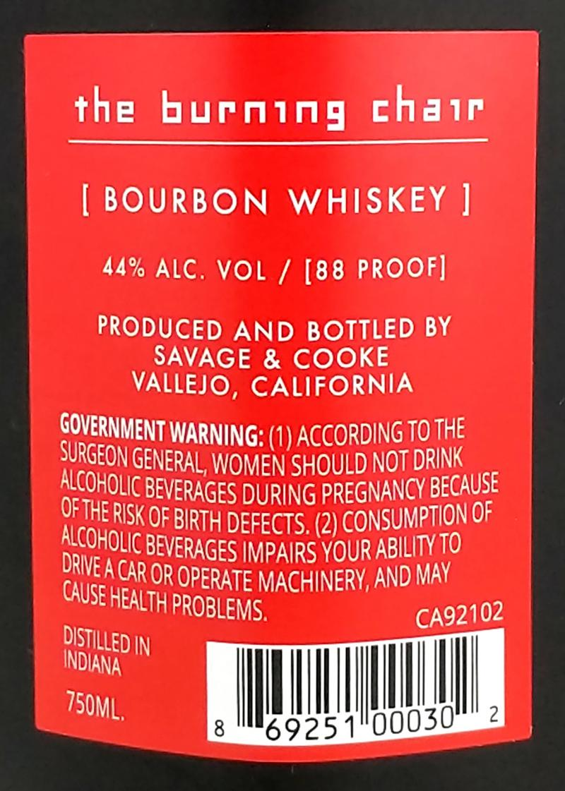 The Burning Chair Bourbon Whisky