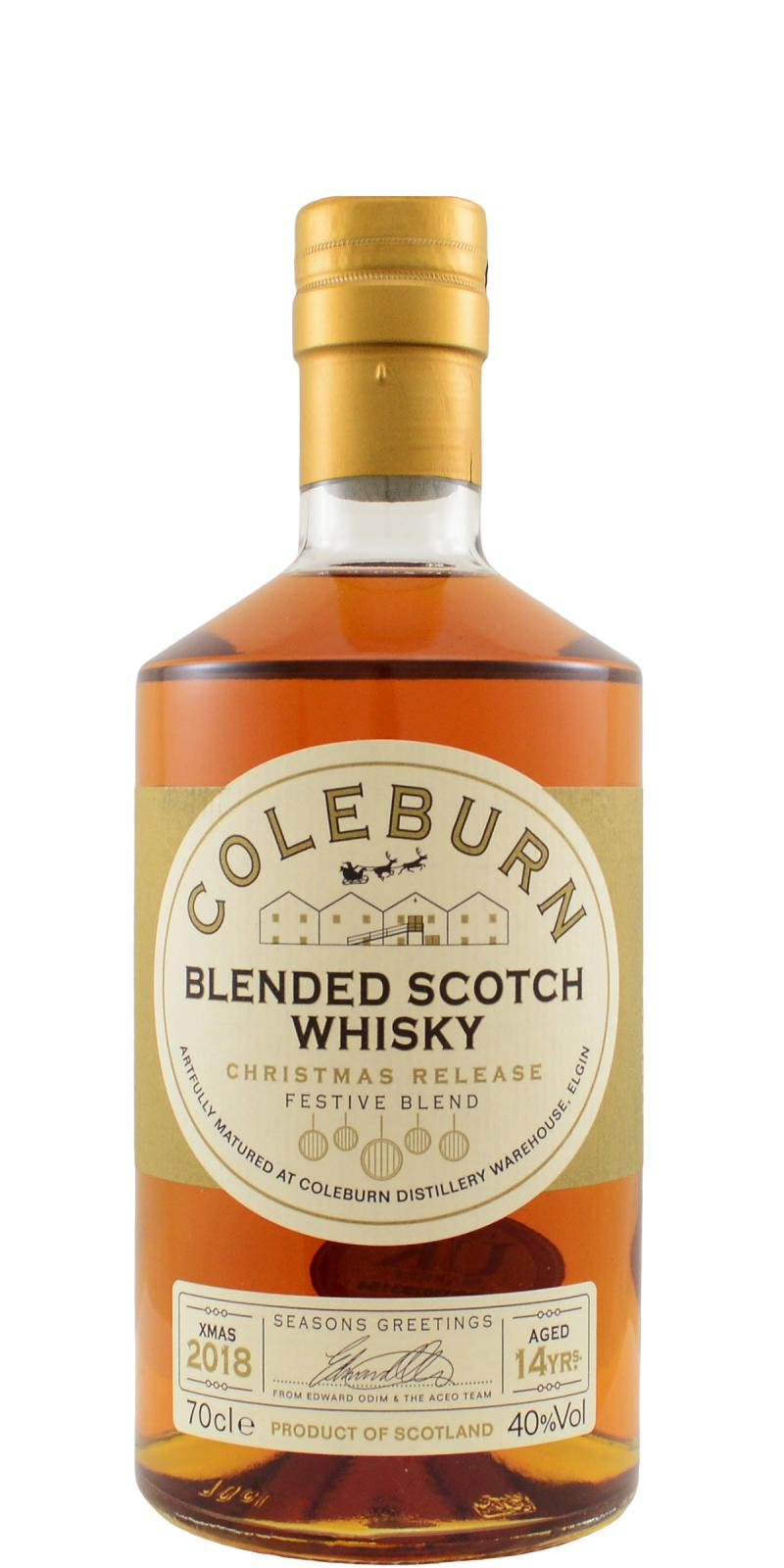 Coleburn Blended Scotch Whisky AcL