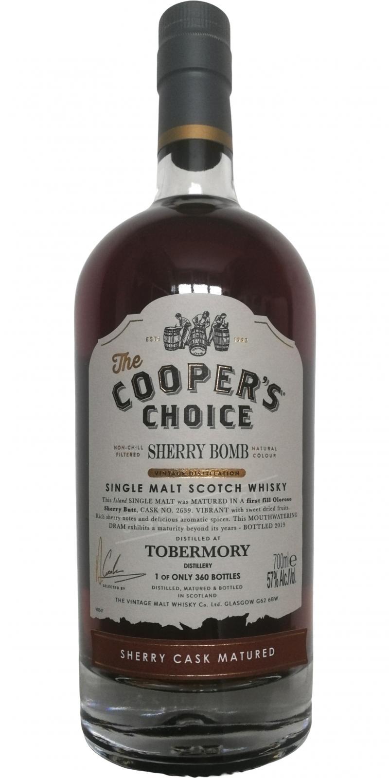 Tobermory Sherry Bomb VM