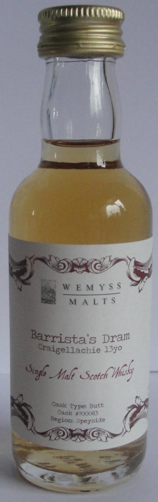 Craigellachie Barista's Dram - Wemyss Malts