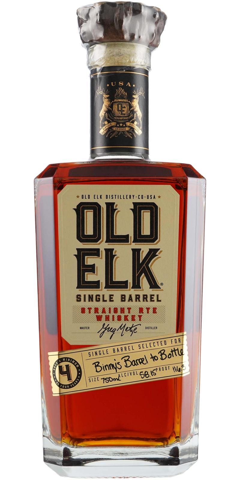 Old Elk Straight Rye Whiskey