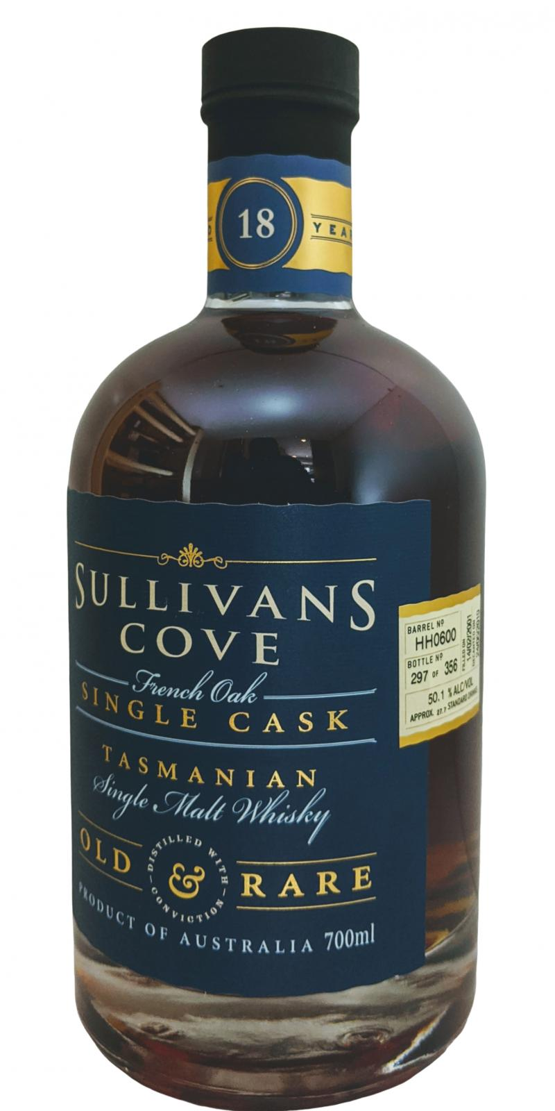 Sullivans Cove 18-year-old