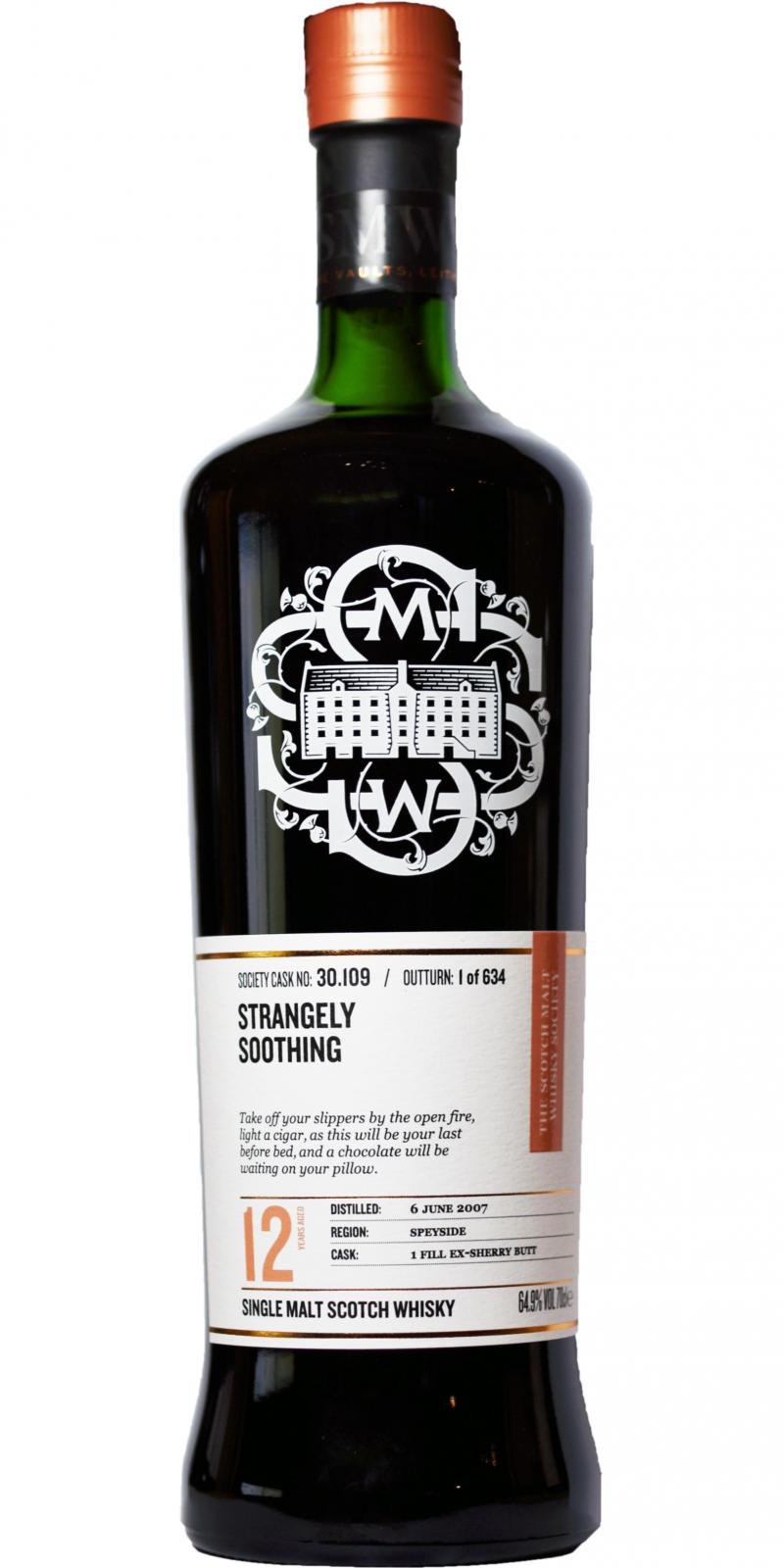 Glenrothes 2007 SMWS 30.109