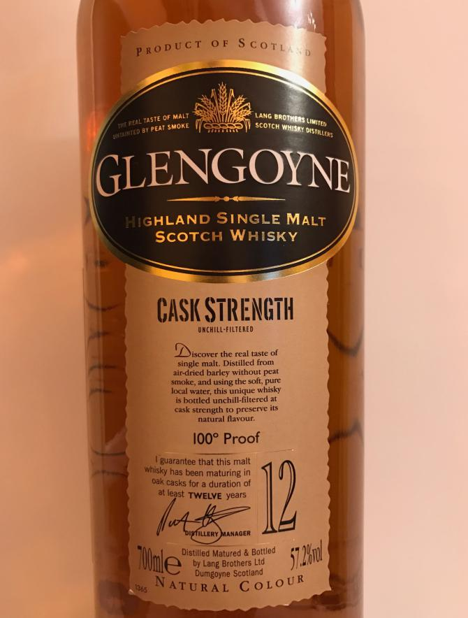 Glengoyne Cask Strength - 100° Proof