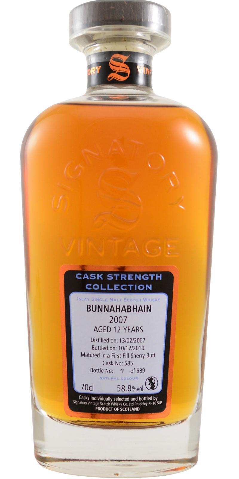 Bunnahabhain 2007 SV