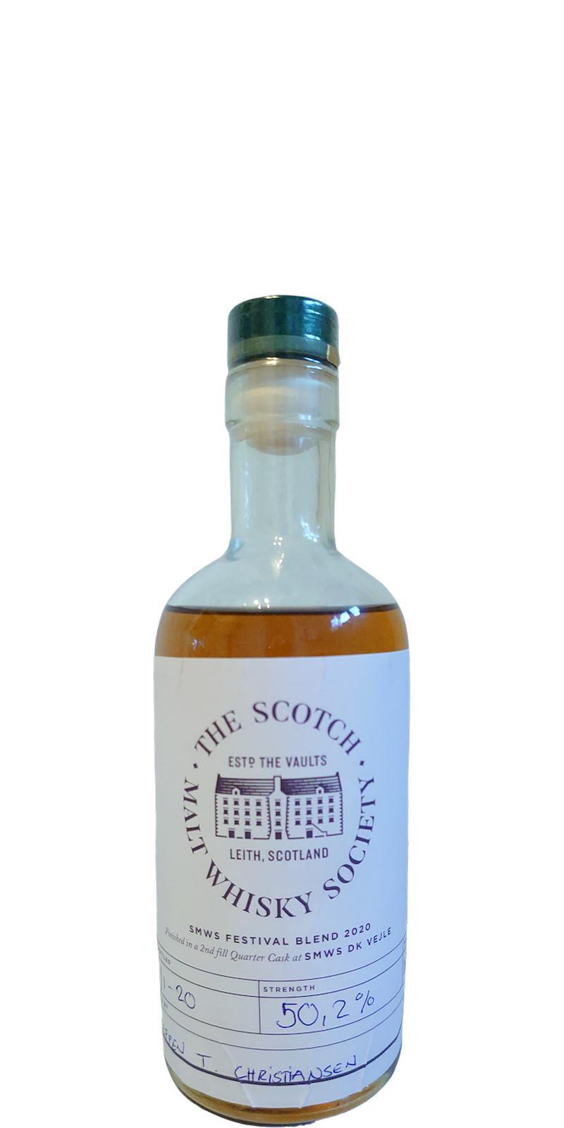 Blended Malt Scotch Whisky SMWS Festival Blend 2020