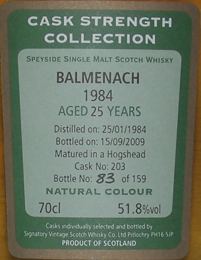 Balmenach 1984 SV
