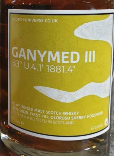 "Scotch Universe Ganymed III - 83° U.4.1' 1881.4"""