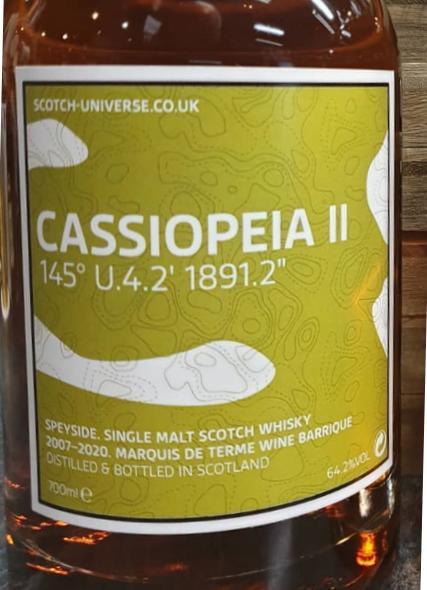 """Scotch Universe Cassiopeia II - 145° U.4.2' 1891.2"""""""