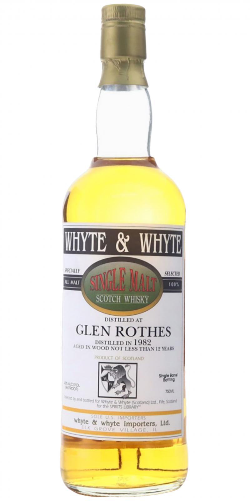 Glenrothes 1982 W&W