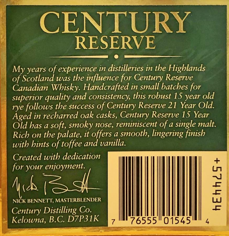 Century Reserve 1987