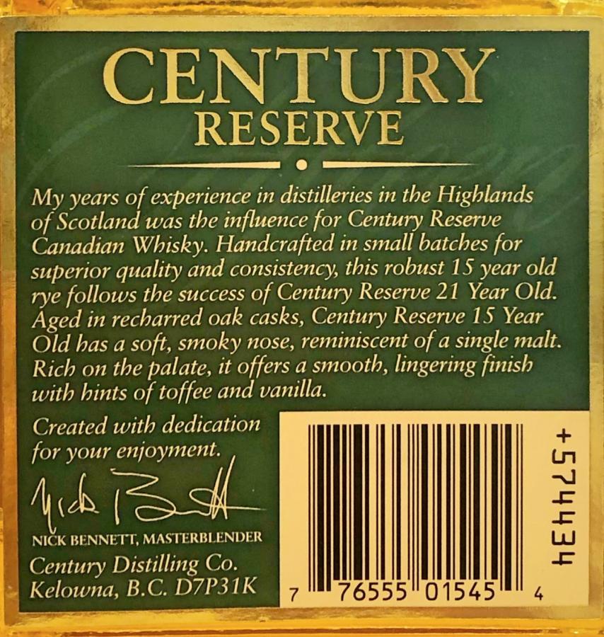 Century Reserve 1986