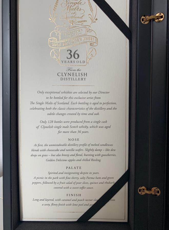 Clynelish 36-year-old ElD