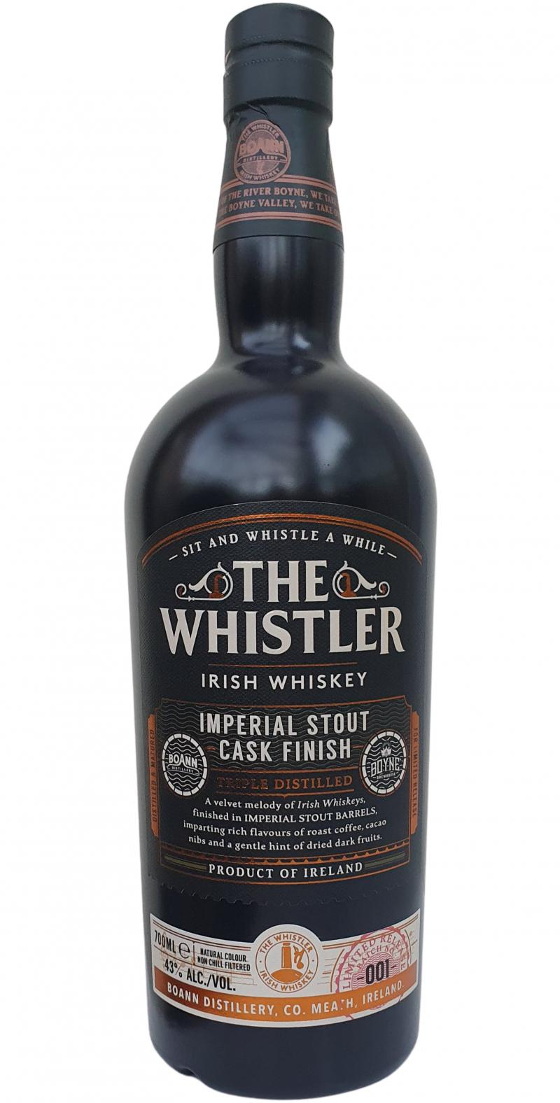 The Whistler Imperial Stout Finish BoD