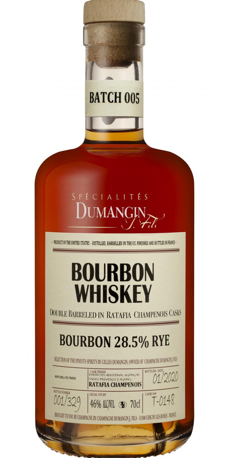 Bourbon Whiskey Bourbon 28.5% Rye CDJF