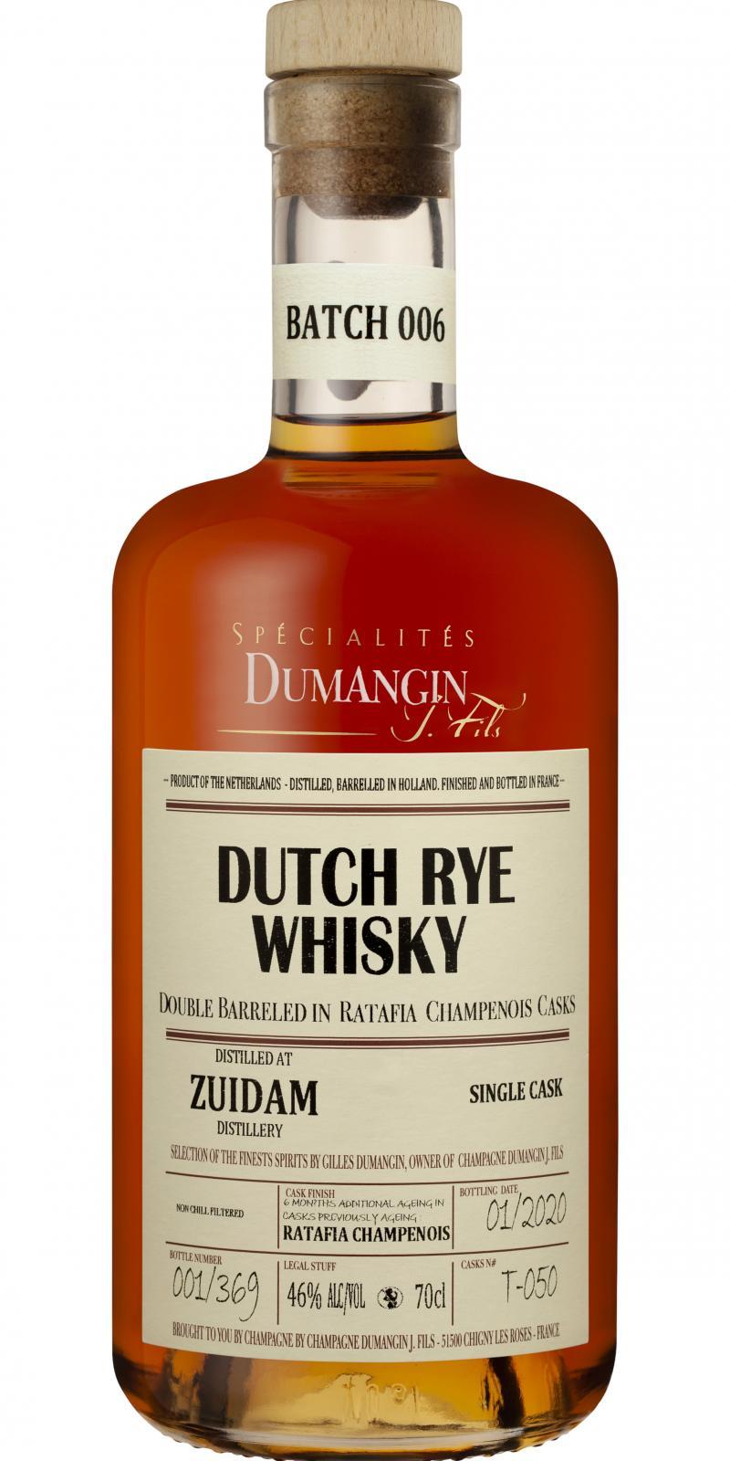 Zuidam Dutch Rye Whisky CDJF