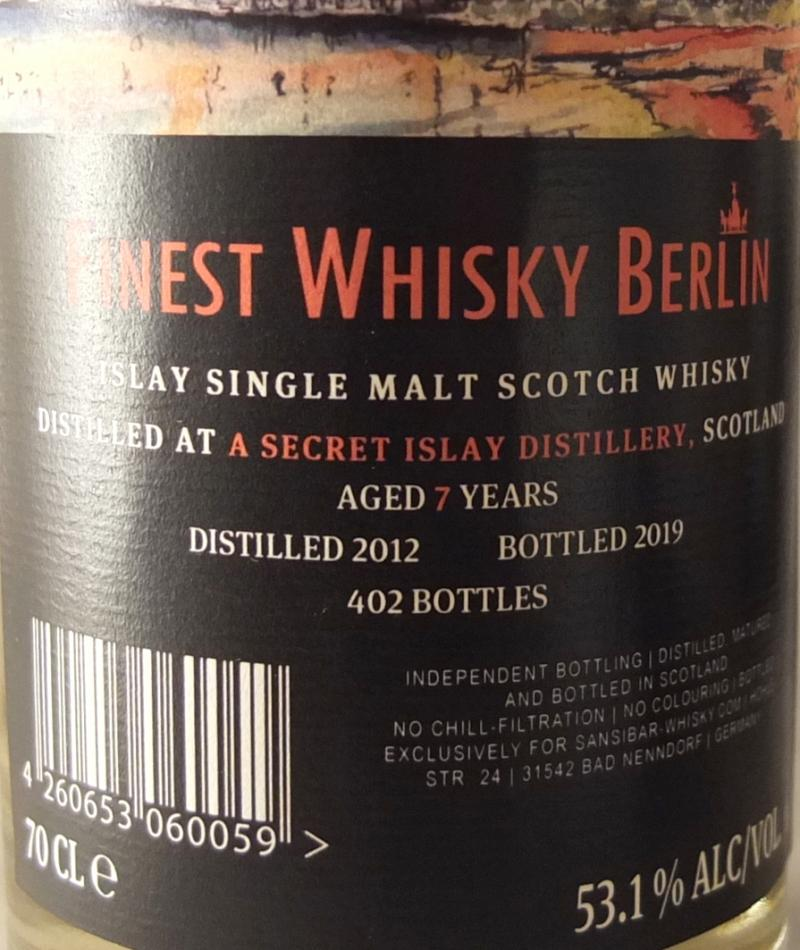 Islay Single Malt Scotch Whisky 2012 Sb