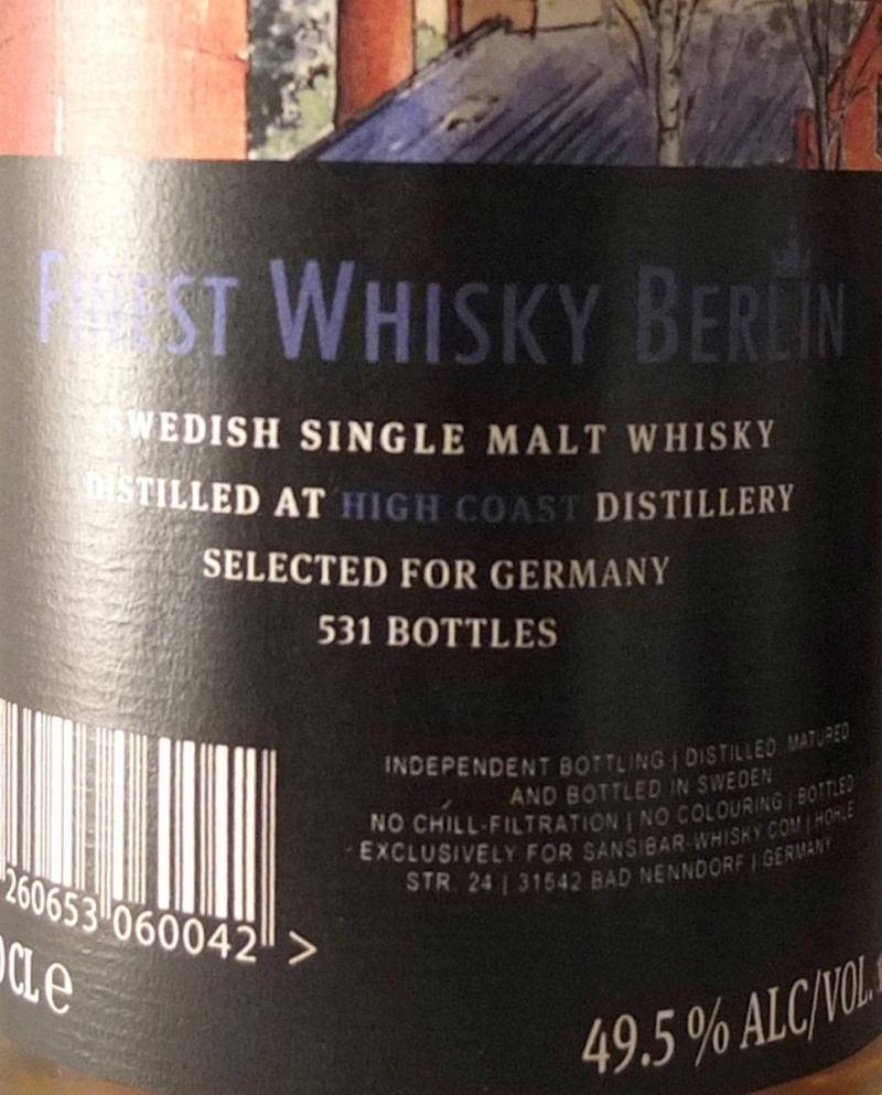 High Coast Swedish Single Malt Whisky