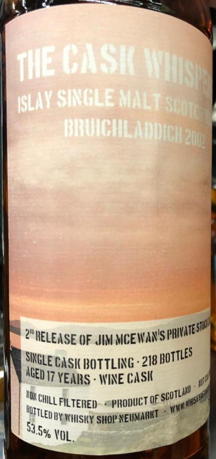Bruichladdich 2002 TCW